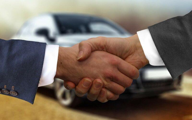 handshake, autokaufmann, auto